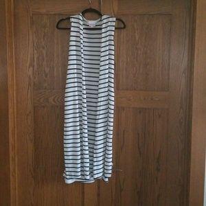 Lularoe Striped Joy Vest xs